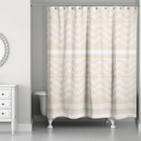 Funky Chevron Shower Curtain in Cream/Ivory
