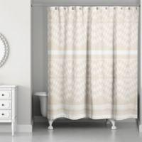 Funky Chevron Shower Curtain In Cream Ivory