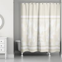 Gradient Block Shower Curtain in Ivory/Cream