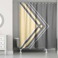 Asymmetrical Shower Curtain in Grey/Yellow