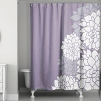 Imperial Efflorescence Shower Curtain in Purple