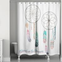 """""""Blessed are the Dreamers"""" Shower Curtain"""