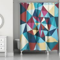 Colorful Prism Pattern Multicolored Shower Curtain