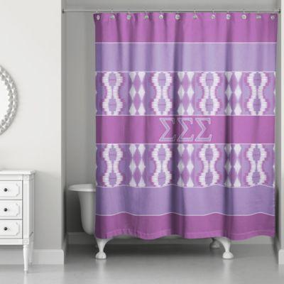 Sigma Shower Curtain In Purple