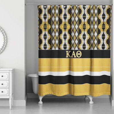 black white gold shower curtain. Kappa Alpha Theta Shower Curtain In Black Gold Buy And From Bed Bath  Beyond