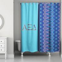 Alpha Xi Delta Shower Curtain In Royal Blue Light