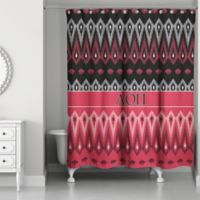Alpha Omicron Pi Shower Curtain In Red Black