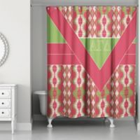 Alpha Gamma Delta Shower Curtain in Pink/Green