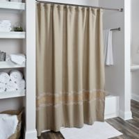 Rizzy Home Leaf Shower Curtain In Beige