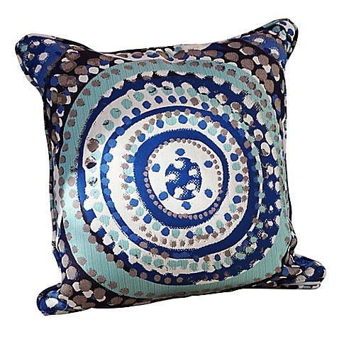 Outdoor Throw Pillows For Patio Furniture : Somers Furniture Cosmos Ocean 20-Square Outdoor Throw Pillow - Bed Bath & Beyond