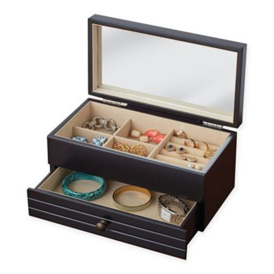 Harper Jewelry Box in Black Bed Bath Beyond
