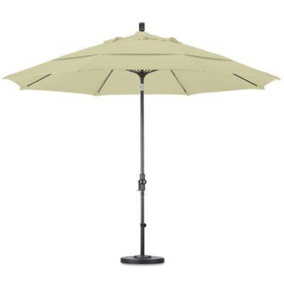 California Umbrella 11 Foot Round Collar Tilt Market Umbrella In Canvas