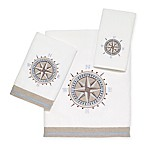 Avanti© Compass Hand Towel in White