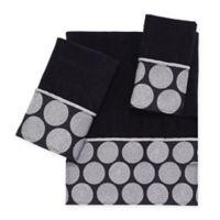 Avanti Dotted Circle Bath Towel in Black