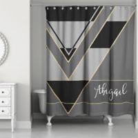 Color Blocking Shower Curtain in Multi