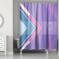 Color Blocking Shower Curtain in Purple/Pink