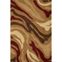 Rugs America Torino Jungle 2-Foot 2-Inch x 2-Foot 11-Inch Accent Rug in Beige/Brown