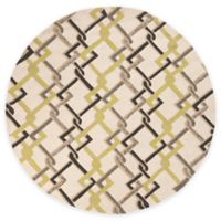 Surya Sutai 8-Foot Round Indoor/Outdoor Area Rug in Ivory