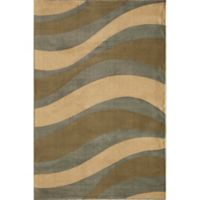 Rugs America Torino Waves 2-Foot x 2-Foot 11-Inch Accent Rug in Blue