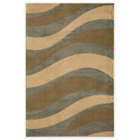 Rugs America Torino Waves 5-Foot 3-Inch x 7-Foot 10-Inch Area Rug in Blue