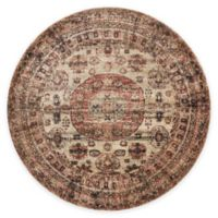 Loloi Rugs Anastasia Faded Medallion 5-Foot 3-Inch Round Area Rug in Champagne Multi