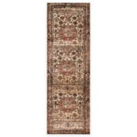 Loloi Rugs Anastasia Faded Medallion 2-Foot 7-Inch x 8-Foot Runner in Champagne Multi