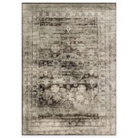 Loloi Rugs Anastasia Faded Medallion 2-Foot 7-Inch x 12-Foot Runner in Granite