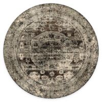 Loloi Rugs Anastasia Faded Medallion 7-Foot 10-Inch Round Area Rug in Granite