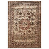 Loloi Rugs Anastasia Faded Medallion 2-Foot 7-Inch x 12-Foot Runner in Champagne Multi