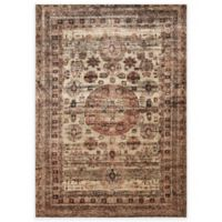 Loloi Rugs Anastasia Faded Medallion 5-Foot 3-Inch x 7-Foot 8-Inch Area Rug in Champagne Multi