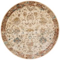 Loloi Rugs Anastasia Adora 9-Foot 6-Inch Round Area Rug in Ivory/Rust