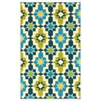 Surya Tennent 2-Foot x 3-Foot Indoor/Outdoor Accent Rug in Lime
