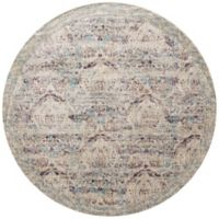 Loloi Rugs Anastasia Dove 7-Foot 10-Inch Round Area Rug in Silver/Purple