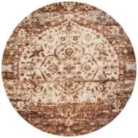 Loloi Rugs Anastasia Medallion 7-Foot 10-Inch Round Area Rug in Rust/Ivory