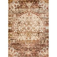 Loloi Rugs Anastasia Medallion 2-Foot 7-Inch x 12-Foot Runner in Rust/Ivory