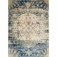 Loloi Rugs Anastasia Medallion 2-Foot 7-Inch x 12-Foot Runner in Blue/Ivory
