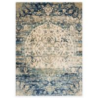 Loloi Rugs Anastasia Medallion 5-Foot 3-Inch x 7-Foot 8-Inch Area Rug in Blue/Ivory