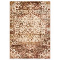 Loloi Rugs Anastasia Medallion 5-Foot 3-Inch x 7-Foot 8-Inch Area Rug in Rust/Ivory