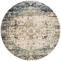 Loloi Rugs Anastasia Medallion 7-Foot 10-Inch Round Area Rug in Blue/Ivory