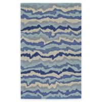 Feizy Lonni 3-Foot 6-Inch x 5-Foot 6-Inch Area Rug in Tide
