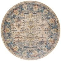 Loloi Anastasia 5-Foot 3-Inch Round Area Rug in Sand/Blue