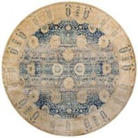 Loloi Rugs Anastasia Dromio 5-Foot 3-Inch Round Area Rug in Blue/Gold