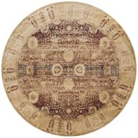 Loloi Rugs Anastasia Dromio 5-Foot 3-Inch Round Area Rug in Red/Gold