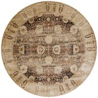 Loloi Rugs Anastasia Dromio 5-Foot 3-Inch Round Area Rug in Coffee/Gold