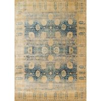 Loloi Rugs Anastasia Dromio 7-Foot 10-Inch x 10-Foot 10-Inch Area Rug in Blue/Gold