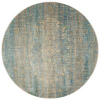 Loloi Rugs Anastasia Portia 5-Foot 3-Inch Round Area Rug in Light Blue