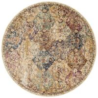 Loloi Rugs Anastasia Diamonds 9-Foot 6-Inch Round Area Rug in Ivory Multi