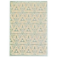Feizy Marin 2-Foot 2-Inch x 4-Foot Accent Rug in Cream/Spa Blue