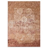 Loloi Rugs Anastasia Scroll 5-Foot 3-Inch Round Area Rug in Copper/Ivory