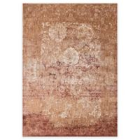 Loloi Rugs Anastasia Scroll 9-Foot 6-Inch Round Area Rug in Copper/Ivory